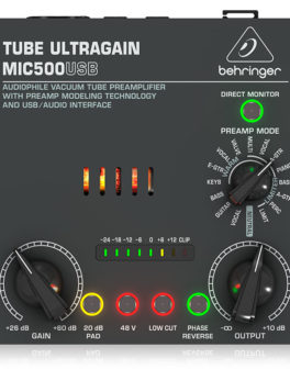 Hipercentro Electrónico preamplificador de tubo interfaz USB grabación estudio vivo MIC5000USB Behringer