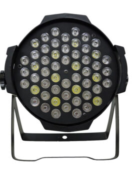 Hipercentro Electronico reflector par led 54 leds x 3 watts color ambar integrado PROLIGHT LP009
