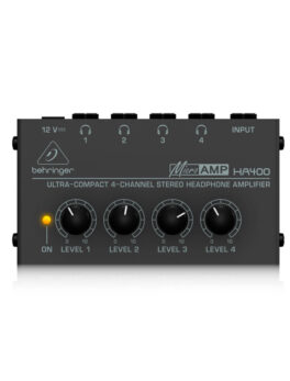 Hipercentro Electronico amplificador de audífonos de 4 canales BEHRINGER HA400