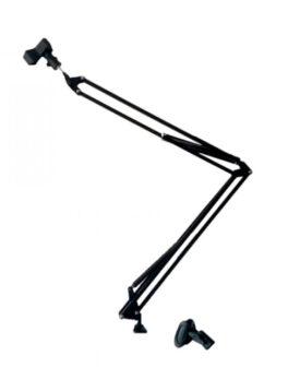 Hipercentro Electronico base para microfono con doble brazo PRODJ RP1