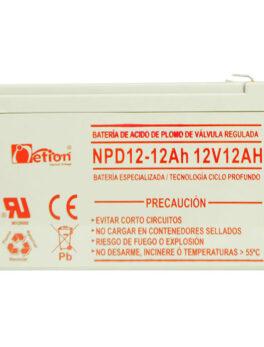 Hipercentro Electronico batería ciclo profundo libre de mantenimiento NETION 12V 12AH