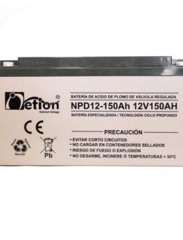 Hipercentro Electronico batería ciclo profundo libre de mantenimiento NETION 12V 150AH
