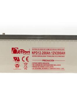 Hipercentro Electronico batería ciclo profundo libre de mantenimiento NETION 12V 100AH