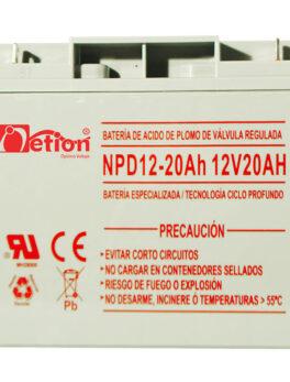 Hipercentro Electronico batería ciclo profundo libre de mantenimiento NETION 12V 20AH