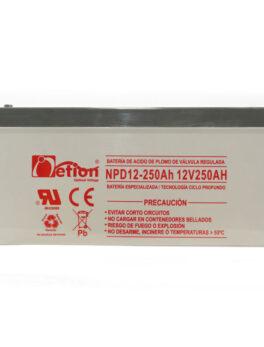 Hipercentro Electronico batería ciclo profundo libre de mantenimiento NETION 12V 250AH