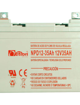 Hipercentro Electronico batería ciclo profundo libre de mantenimiento NETION 12V 35AH