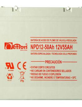 Hipercentro Electronico batería ciclo profundo libre de mantenimiento NETION 12V 55AH