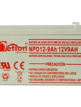 Hipercentro Electronico batería ciclo profundo libre de mantenimiento NETION 12V 9AH