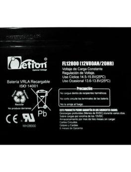 Hipercentro Electronico batería seca libre de mantenimiento NETION 12V 80AH