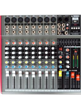 Hipercentro Electronico consola amplificad análoga de 8 canales PRODJ SP812USB