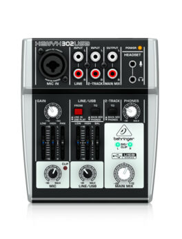 Hipercentro Electronico consola de 1 canal con interfaz para grabación BEHRINGER XENYX 302USB