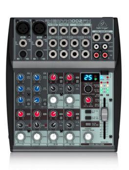 Hipercentro Electronico consola de 2 canales BEHRINGER 1002FX