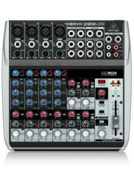 Hipercentro Electronico consola análoga de 4 canales con interfaz de grabación BEHRINGER XENYX Q1202USB