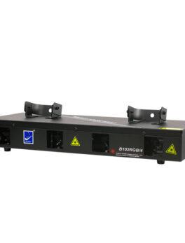 Hipercentro Electronico laser profesional de 4 cañones verde, azul, rojo y magenta BIG DIPPER B102RGB4