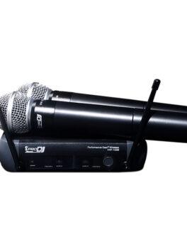 Hipercentro Electronico micrófono inalambrico de mano doble PRODJ VHF 122M