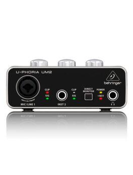 Hipercentro Electronico interfaz de audio para grabación de una entrada BEHRINGER UM2