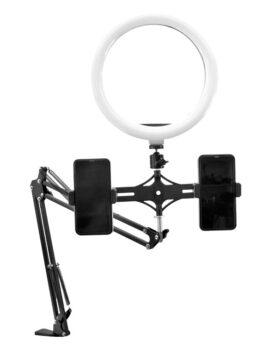 Hipercetro Electronico Aro De Luz Con Base Para Escritorio Tipo Brazo RL10-52 ProDj Completo