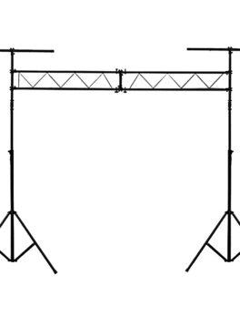 Hipercentro Electrónico base soporte accesorio doble iluminación luces escenario LS60 Pro Dj