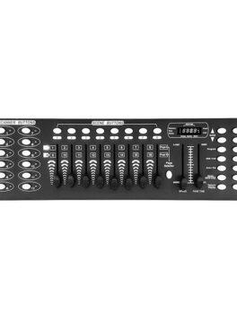 Hipercentro Electrónico controlador luces iluminación LED escenario evento diseño dmx memoria bancos CL192DMX Pro Dj