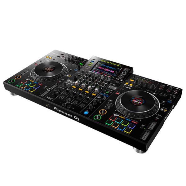 Hipercentro Electrónico controlador midi sistema dj todo en uno grabación usb scratch jog wheel efectos XDJ-XZ Pioneer-Side