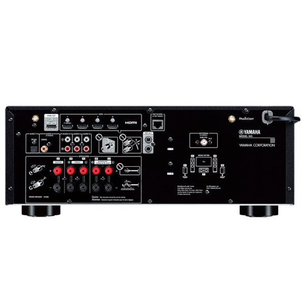 Hipercentro Electrónico recepto av amplificador potencia teatro en casa bluetooth usb Yamaha RXV4A-Rear