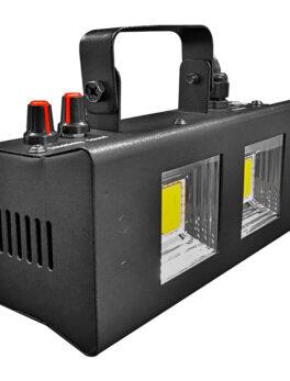 Hipercentro Electrónico strobe doble luz iluminación estrober blanco flash escenario discoteca PL22 STROBE Pro Dj Lighting
