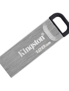 Hipercentro Electrónico memoria dispositivo almacenamiento transferencia usb tipo a flash metálica 128gb datatraveler kyson DTKN Kingston